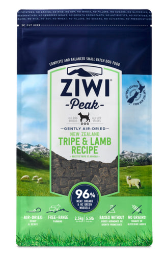 Ziwi Peak Tripe & Lamb for Dogs 2.5kg