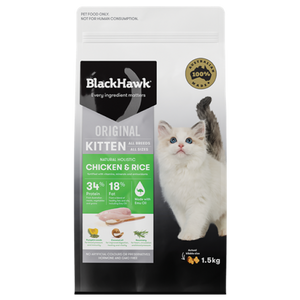 Chicken & Rice Kitten 3kg - Black Hawk