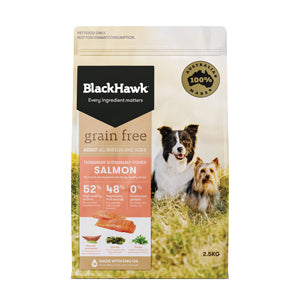 Salmon Grain Free Dog Adult - Black Hawk