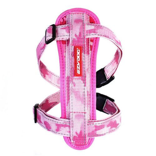 Ezydog Chest Plate Harness Pink Camo