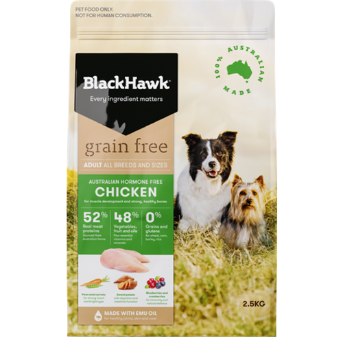Chicken Grain Free Dog Adult 2.5kg -  Black Hawk
