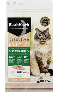 Black Hawk Feline - Grain Free Chicken & Turkey 1.2kg