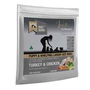 Puppy & Whelping Turkey & Chicken Large Kibble Meals for Mutts