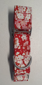 Martingale Collar Red Floral