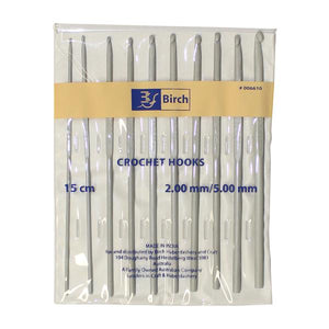 Birch Crochet Hook 10 Pack