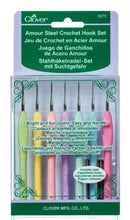 Load image into Gallery viewer, Clover Armour Steel Crochet Hook Gift Set