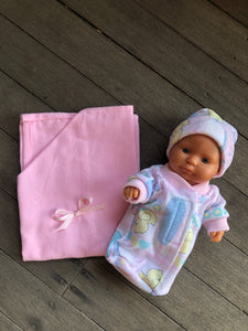 Pixie Winks Doll Sleeping Bag and Blanket Set