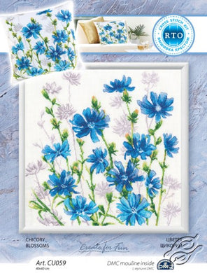 Chicory Blossoms Cross Stitch Kit
