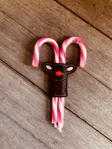 Pixie Winks - Reindeer Candy Cane Holders