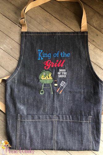 Pixie Winks King of the Grill BBQ Apron