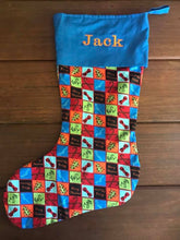 Load image into Gallery viewer, Christmas Stocking with cotton top - Personalised optional
