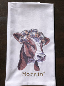 Farmyard Embroidered Tea Towels by Pixie Winks