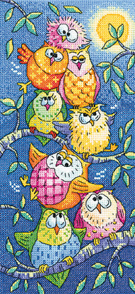 Heritage Crafts - Birds of a Feather - Tottering Tower Cross Stitch Kit