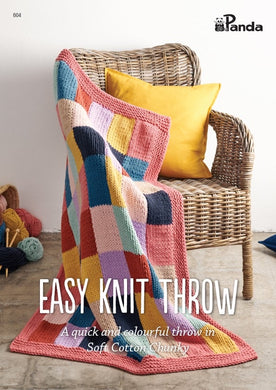 Easy Knit Throw Pattern Book