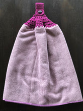 Load image into Gallery viewer, Crocheted top hanging micro fibre kitchen/ hand/tea towels