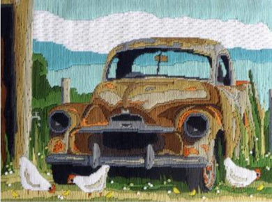 Country Threads Long Stitch Kit - Rusty Old Car