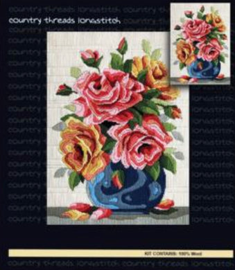 Country Threads Long Stitch Kit - Roses