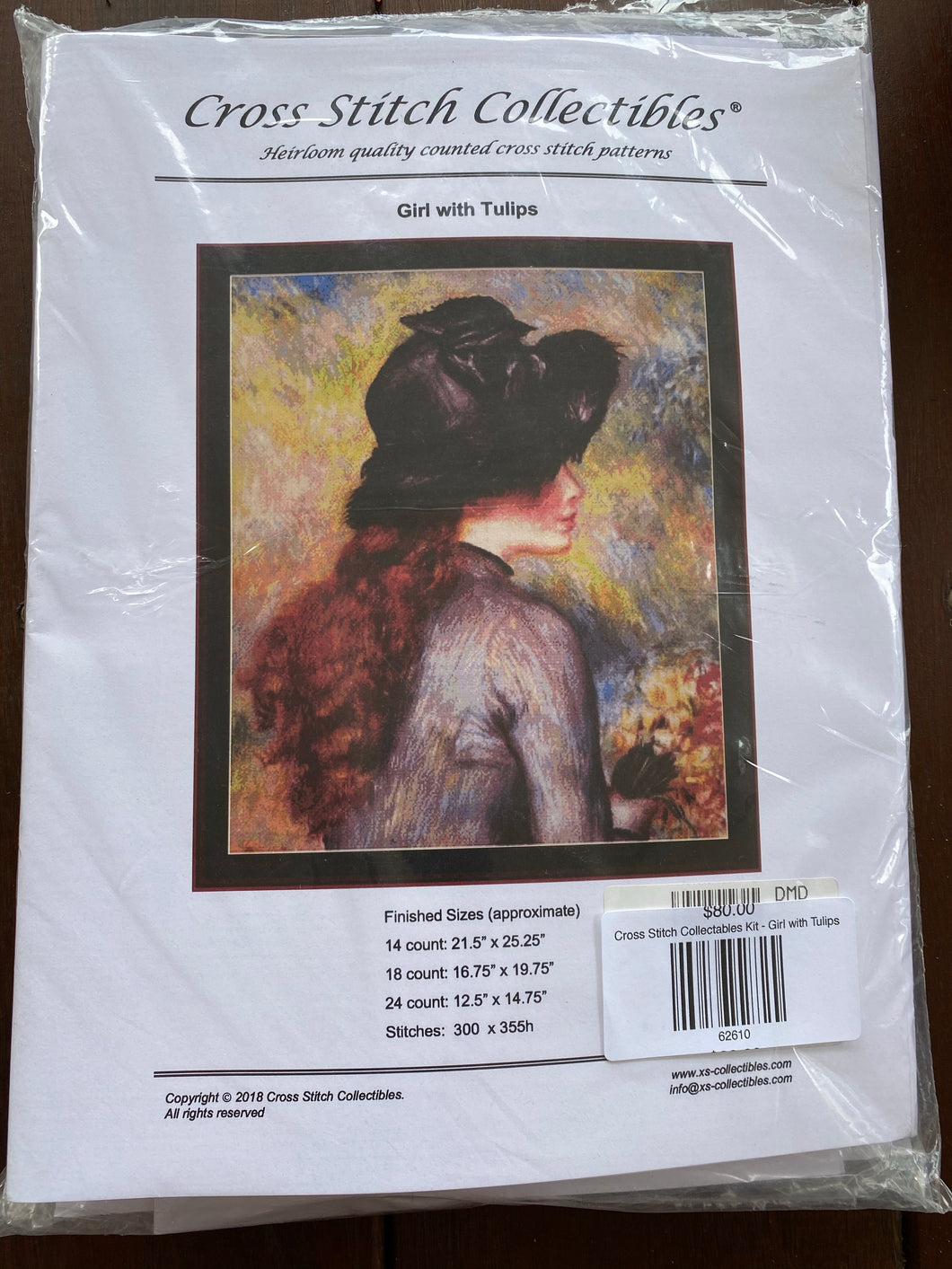 Cross Stitch Collectables Kit - Girl with Tulips
