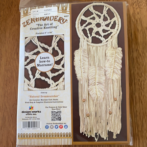 Zenbroidery Macrame Kit - Natural Dreamcatcher