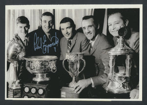 Original Autographed Press/Wire Photo 1969  Phil Esposito Bobby Orr, Danny Grant, Jacques Plante, Glen Hall  Vintage NHL Hockey Pic  News Archives