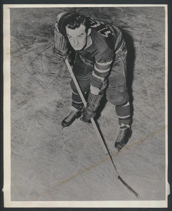 Original Oscar Aubuchon -New York Rangers Press/Wire Photo 1944