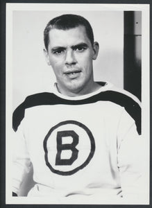 Original Earl Balfour -Boston Bruins Hockey Press Photo 1961  Vintage NHL Hockey Pic  News Archives