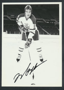 Mark Messier Autographed  Edmonton Oilers Press Photo 1980  c/w COA  Bruce Bennett Photo.