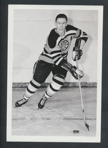 Original Leo Labine Boston Bruins Team Press Photo 1963  Used for 1991-92 Ultimate Original Six Card  Vintage NHL Hockey