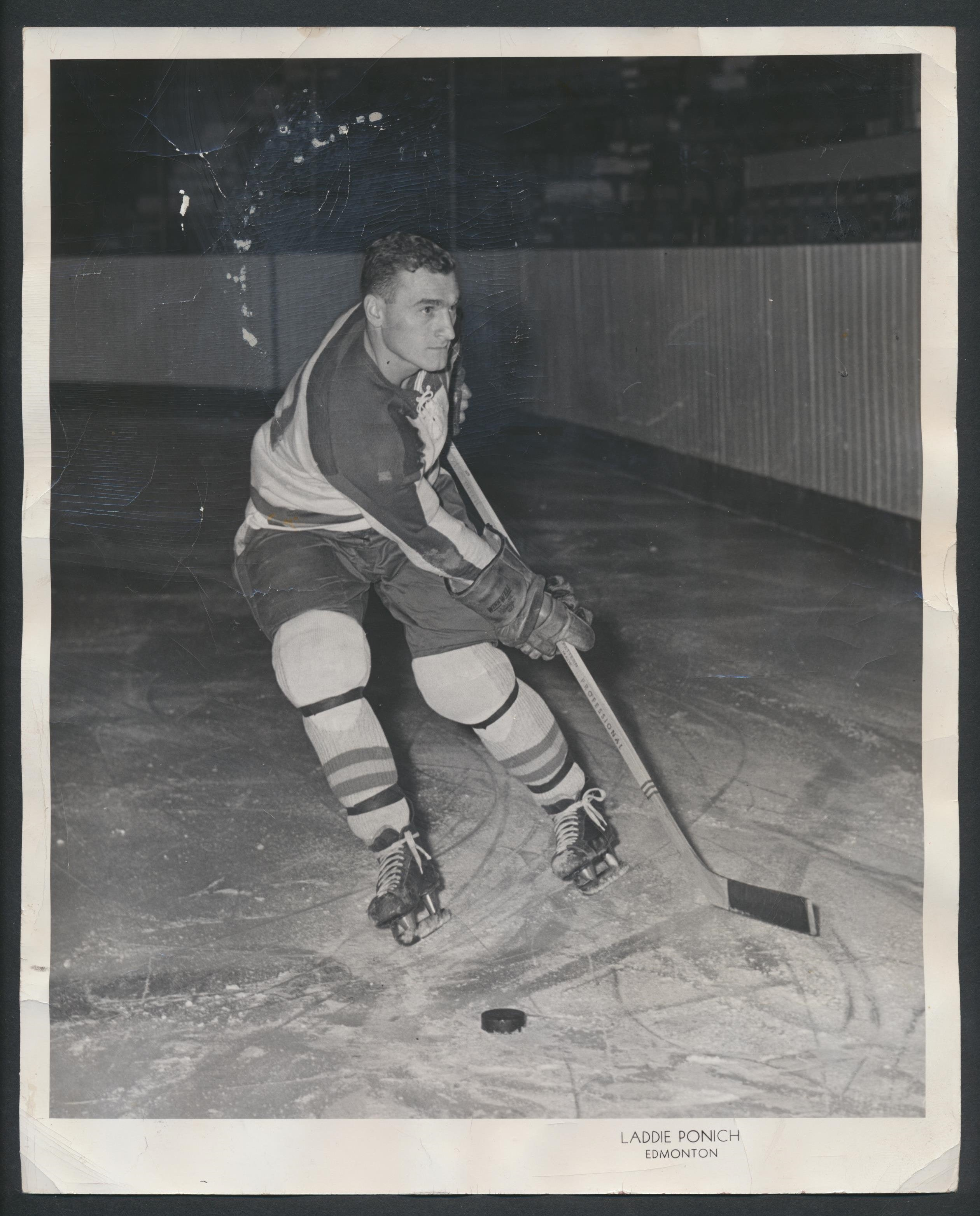 Original Ray Kinasewich Seattle Americans Press Photo 1956  Vintage WHL Hockey  First Coach in Edmonton Oilers History!