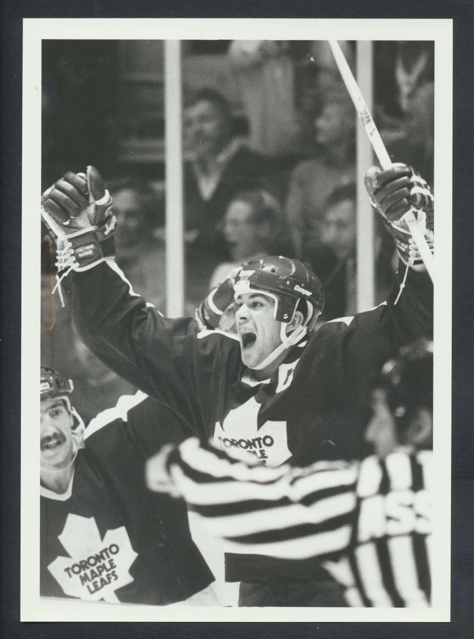 Original Rick Vaive Toronto Maple Leafs Press Photo 1984  Sporting News Collection  NHL Hockey Memorabilia