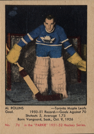 Original Al Rollins Toronto Maple Leafs  TUROFSKY Press Photo  Used for 1951-52 Parkhurst Card!  NHL Hockey Memorabilia