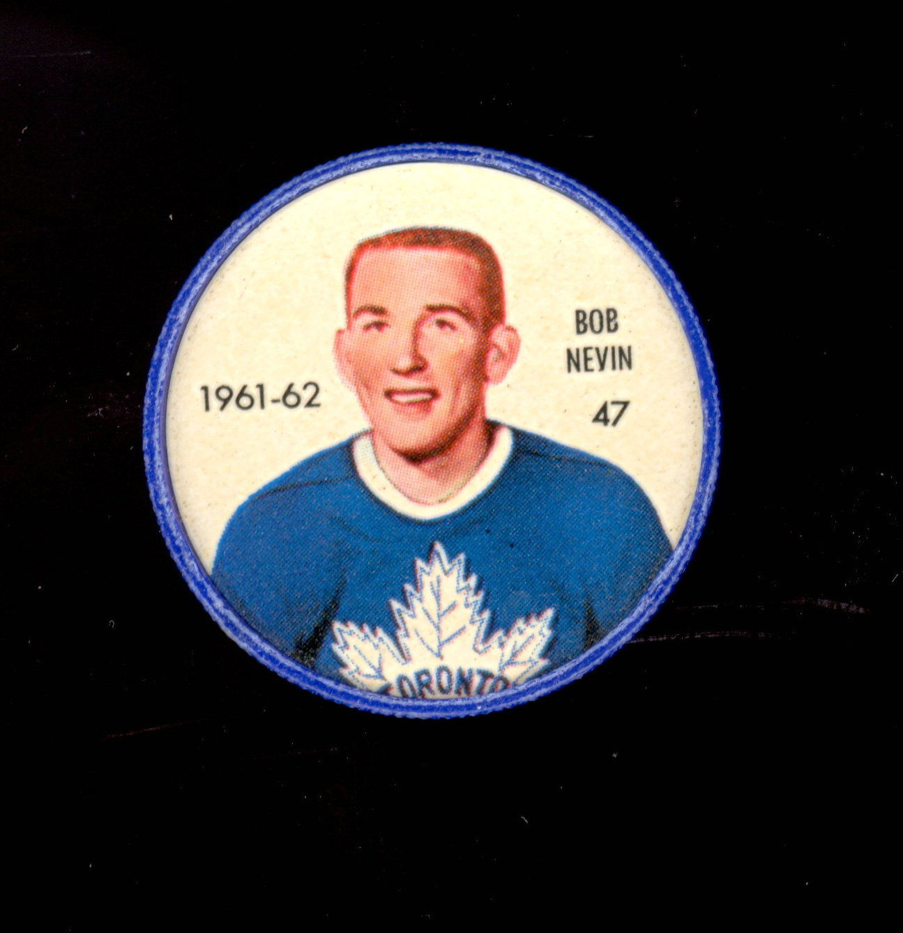 Original Bob Nevin Toronto Maple Leafs  TUROFSKY Press Photo  Used for 1961-62 1962-63 Shiriff Coins  NHL Hockey Memorabilia
