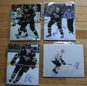 4 Autographed Dallas Stars 8x10 Photos  c/w COA  FREE SHIPPING  Bellows, Fistric, Garbutt, Grossman  NHL Hockey Memorabilia