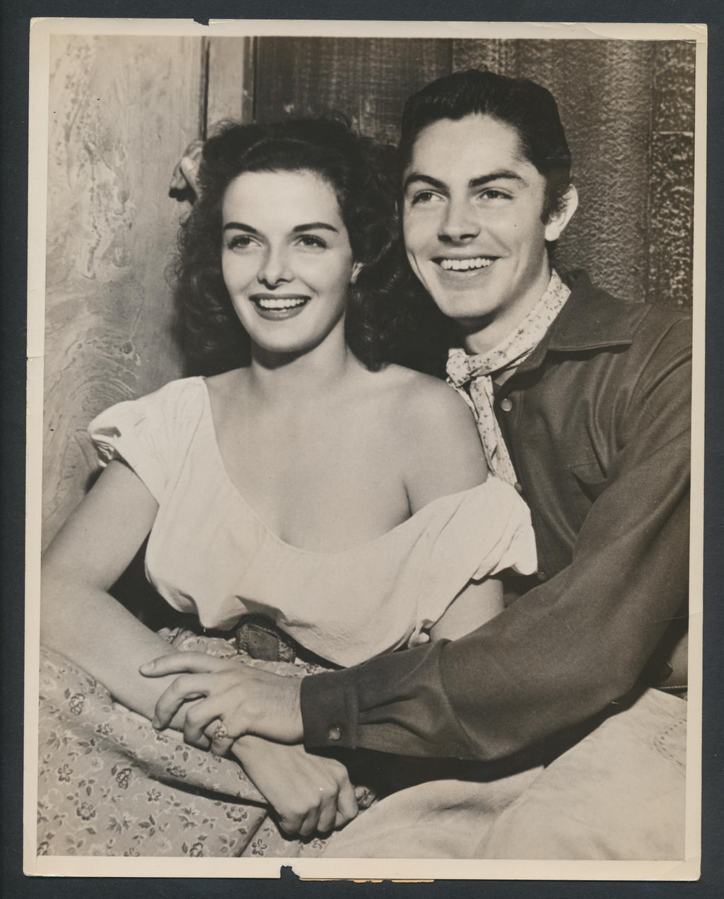 Original Vintage Jane Russell (19) & Jack Beutel Press Photo 1940  The Outlaw