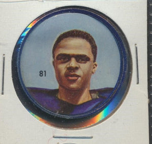 #81 Leo Lewis -Star Player  1963 CFL Coin -Winnipeg  Nalley's  CFL Football