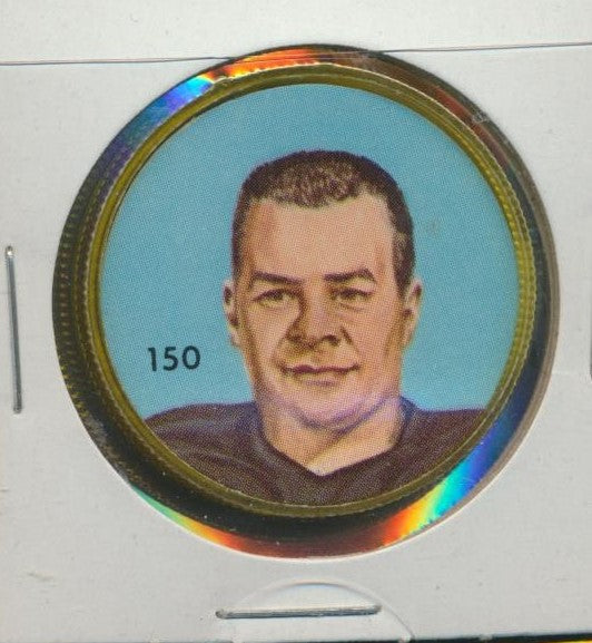 #150 Tom Brown -Star Player  1963 CFL Coin -B.C. Lions  Nalley's  CFL Football