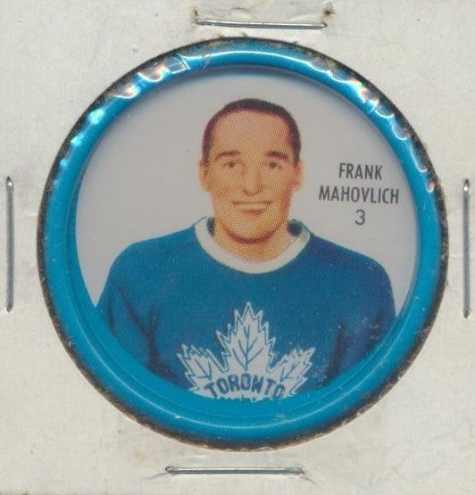 #3 Frank Mahovlich 1962-63 Metal Shirriff NHL Coin  Toronto Maple Leafs  NHL Hockey