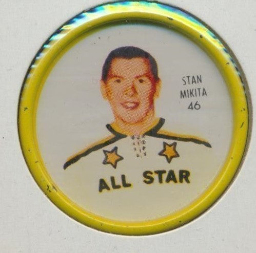 #46 Stan Mikita 1962-63 Metal Shirriff NHL Coin  All-Star  NHL Hockey