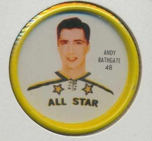 #48 Andy Bathgate 1962-63 Metal Shirriff NHL Coin  All-Star  NHL Hockey