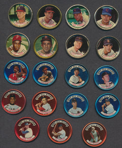 Lot of 19 1964 Topps Metal Baseball Coins  Aparicio, Marichal