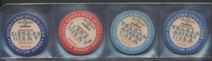 Lot of 48  1984 7-Eleven Superstar Baseball Coins  Carew, Jackson, Rose  Slurpee, Discs