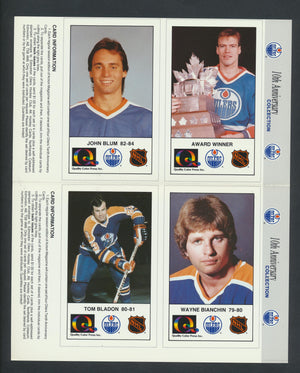 1988-89 Edmonton Oilers 10 Ann. Cards  Lot of 25/41 Pages (100 Cards)  Coffey, Messier