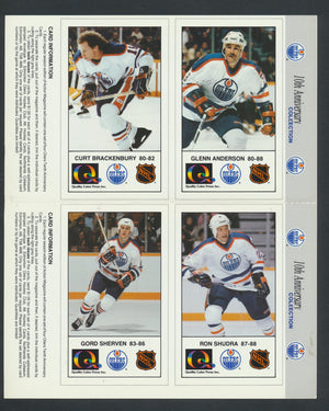 1988-89 Edmonton Oilers 10 Ann. Cards  Lot of 23/41 Pages (92 Cards)  Coffey, Fuhr