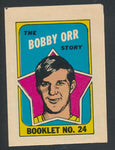 1971-72 OPC Player Booklets  Bobby Orr #24  Vintage NHL Hockey Memorabilia