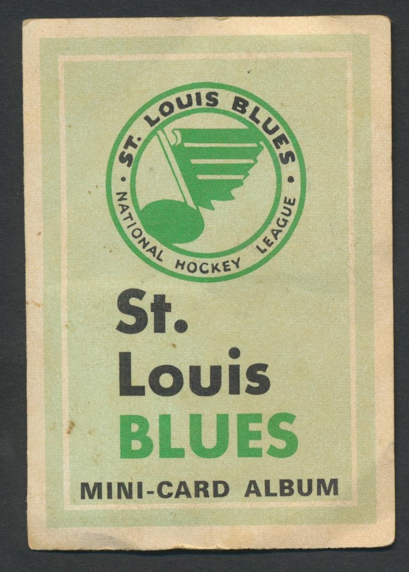 Rare 1969-70 OPC Mini Card Album   St. Louis Blues c/w 4 Cards  Berenson  O-Pee-Chee  Vintage NHL Hockey Memorabilia
