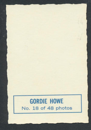 1970-71 Deckle Edge Inserts #18 Gordie Howe  Detroit Red Wings  Vintage NHL Hockey Memorabilia