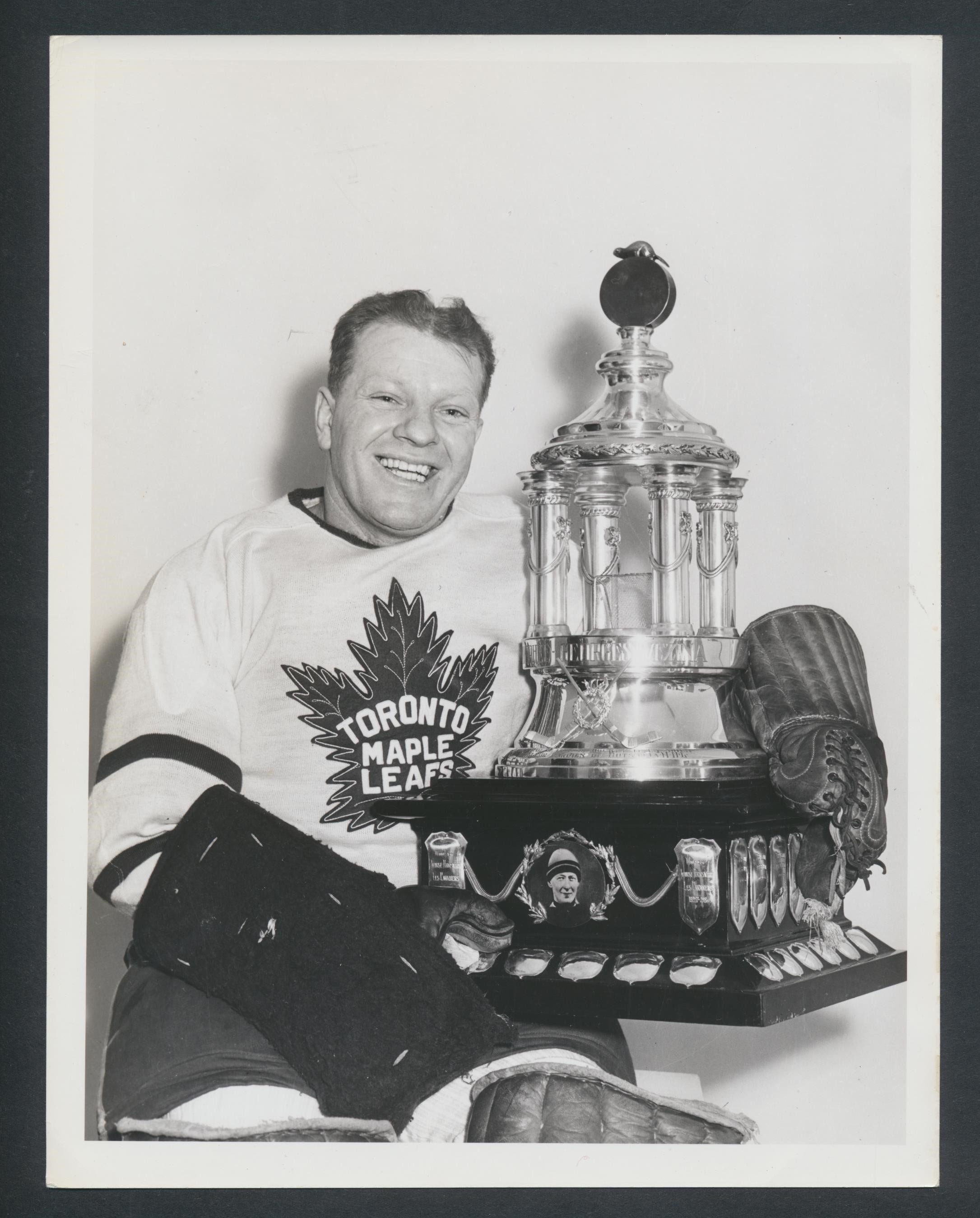 Original Turofsky Turk Broda -Toronto Maple Leafs Press Photo 1948 Vezina Trophy