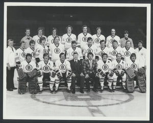 Original Vintage Boston Bruins Team Press Photo Bobby Orr, Don Cherry Vintage