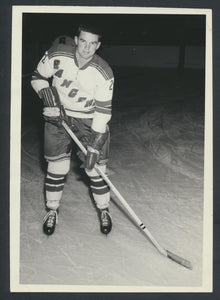 Original Ted Hampson -New York Ranger Press Photo 1963 Vintage NHL Hockey Pic