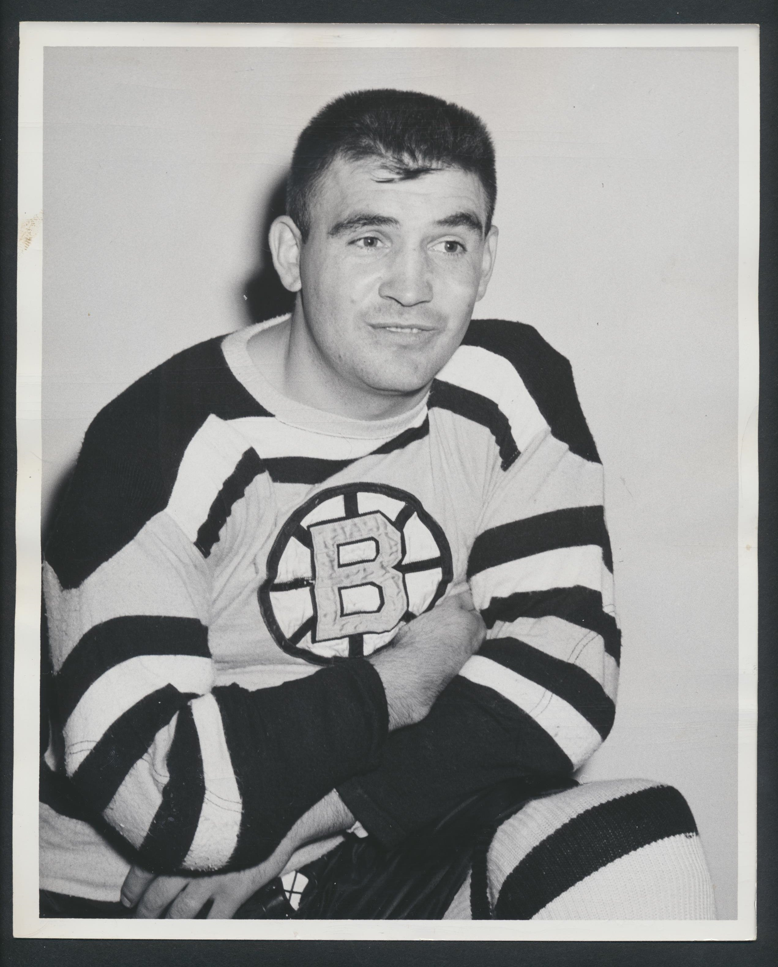 Original Real Chevrefils -Boston Bruins Press Photo 1959 NHL Hockey Pic Archive